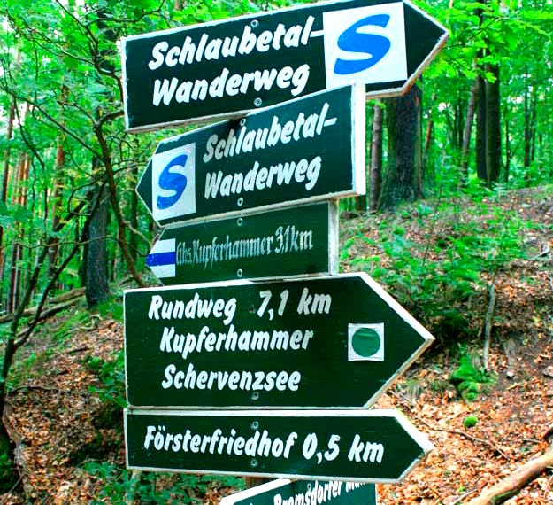 Many paths lead through the Schlaubetal